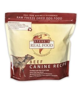 Steve's Real Food Steve's Real Food Freeze Dried Dog & Cat Food Nuggets Beef Diet 1.25lb
