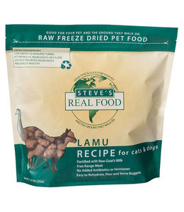 Steve's Real Food Steve's Real Food Freeze Dried Dog & Cat Food Nuggets Lamu Diet 1.25lb