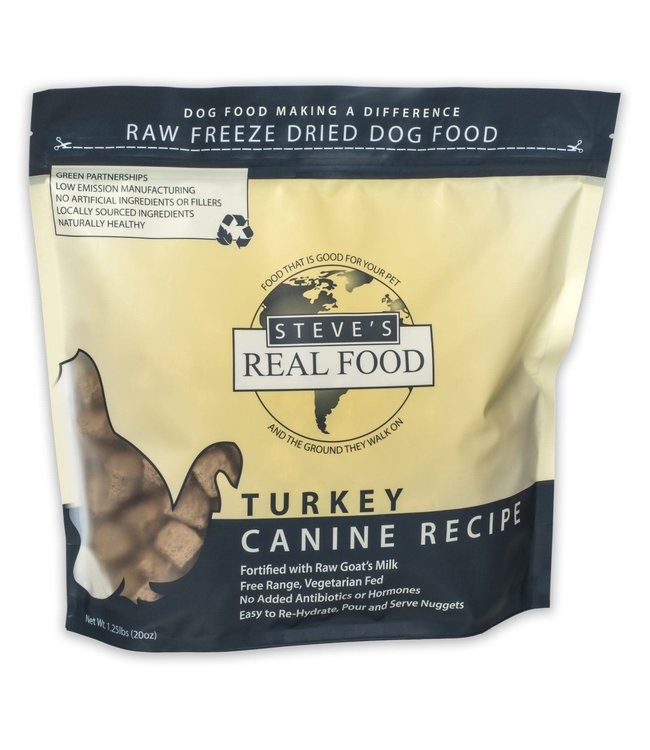 Steve's Real Food Steve's Real Food Freeze Dried Dog & Cat Food Nuggets Turkey Diet 1.25lb
