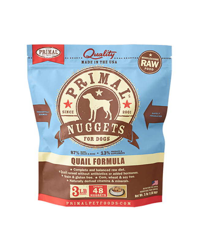 Primal Pet Foods Primal Raw Frozen Canine Quail Formula