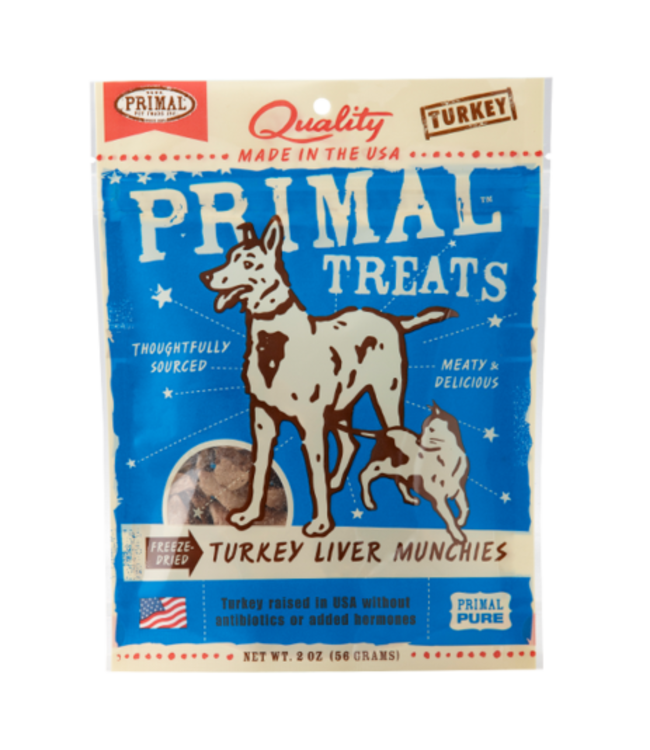 Primal Pet Foods Primal Freeze-Dried Turkey Liver Munchies 2oz