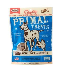 Primal Pet Foods Primal Freeze-Dried Beef Liver Munchies 2oz