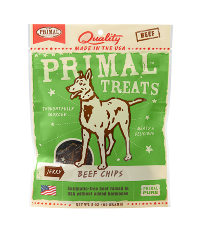 Primal Pet Foods Primal Jerky Beef Chips 3oz