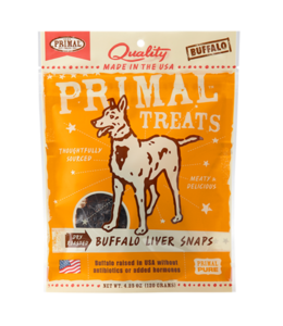 Primal Pet Foods Primal Dry Roasted Buffalo Liver Snaps 4.25oz