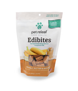Pet Releaf Pet Releaf Edibites Crunchy Peanut Butter & Banana Large Breed