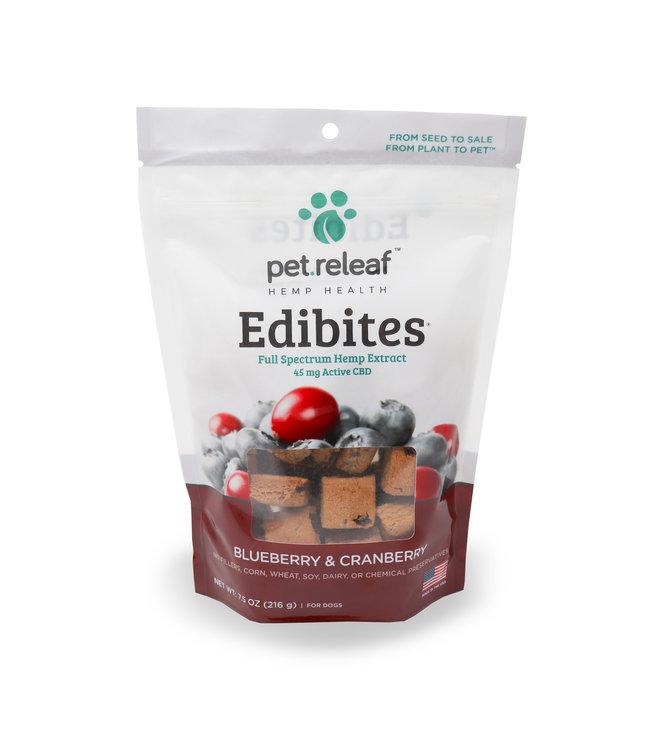 Pet Releaf Pet Releaf Edibites Crunchy Blueberry & Cranberry 7.5 OZ