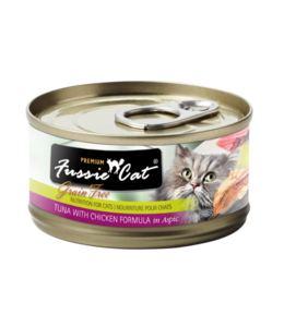 Fussie Cat Fussie Cat Grain-Free Tuna & Chicken Liver in Aspic 2.82 oz