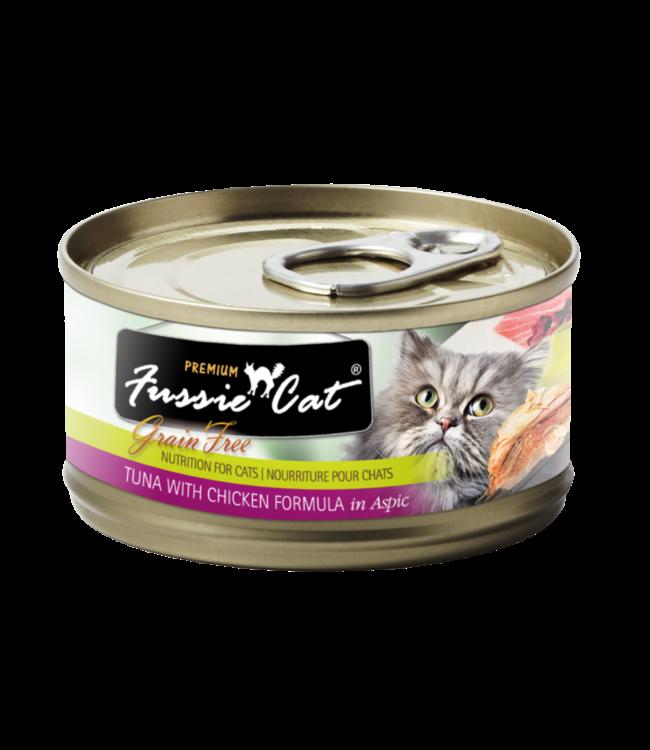 Fussie Cat Fussie Cat Grain-Free Tuna & Chicken Liver in Aspic 2.82 oz