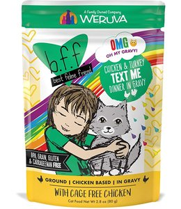 Weruva Weruva b.f.f. BFF OMG Pouch GF Chicken & Turkey - Text Me 2.8 oz