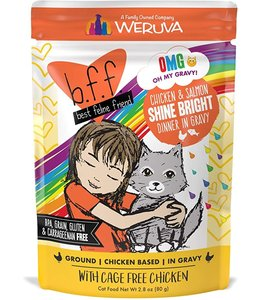 Weruva Weruva b.f.f. Chicken & Salmon Shine Bright Chicken & Salmon Dinner in Gravy (2.8 oz Pouch)