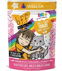 Weruva Weruva b.f.f. Tuna & Turkey Tickles Tuna & Turkey Dinner in Gravy (3.0 oz Pouch)