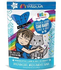 Weruva Weruva b.f.f. Ciao Baby! Chicken & Shrimp Dinner in Gravy (2.8 oz Pouch)