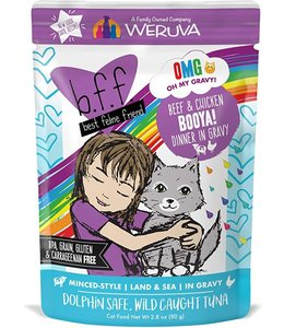Weruva Weruva b.f.f. Booya! Beef & Chicken Dinner in Gravy (2.8 oz Pouch)