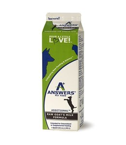 Answers Pet Food Answers Raw Goat Milk