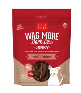 Cloud Star Wag More Bark Less Turkey & Cranberry Jerky