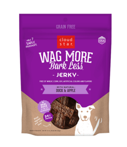 Cloud Star Wag More Bark Less Duck Jerky Apple