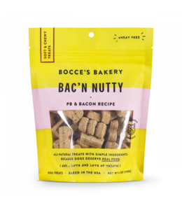 Bocce's Bakery Bocce Bakery Soft & Chewy Bacon Nutty 6 oz