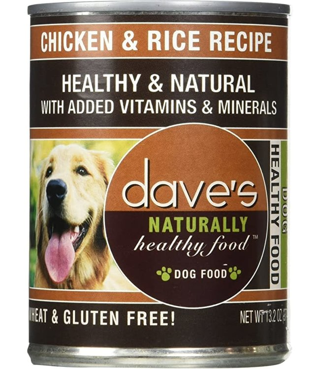 Dave's Pet Food Dave's Naturally Healthy, Chicken & Rice For Dogs, 13 OZ