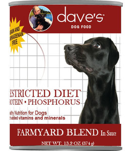Dave's Pet Food Dave's Restricted Diet Protein Phosphorus Farmyard Blend 13oz
