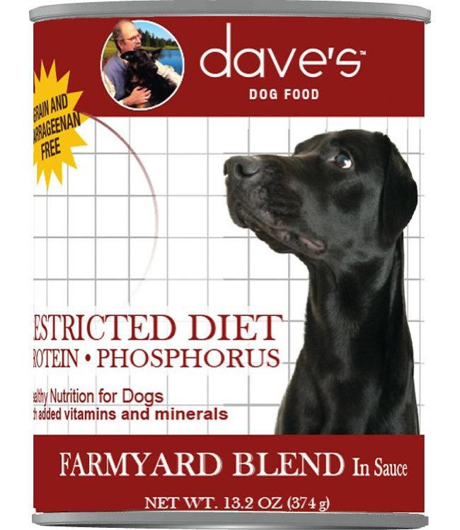 Dave's Pet Food Dave's Restricted Diet Protein Phosphorus Farmyard Blend 13oz
