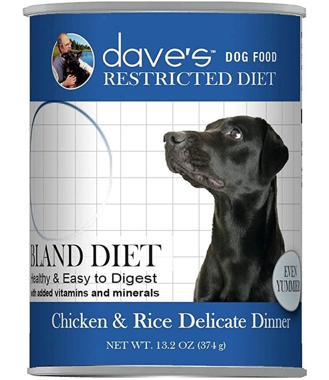 Dave's Pet Food Daves Restricted Bland Chicken & Rice Can 13.2oz