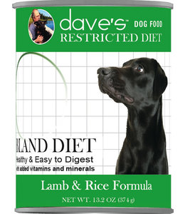 Dave's Pet Food Dave's Pet Food Restricted Bland Diet Lamb & Rice Formula 13-oz