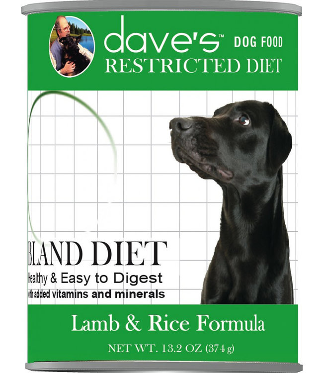 Dave's Pet Food Dave's Pet Food Restricted Bland Diet Lamb & Rice Formula 13-oz