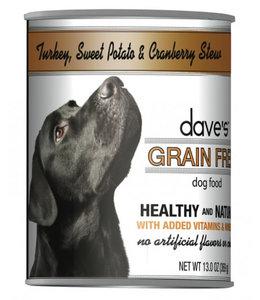 Dave's Pet Food Dave's Grain Free Turkey Sweet Potato and Cranberry 13 OZ