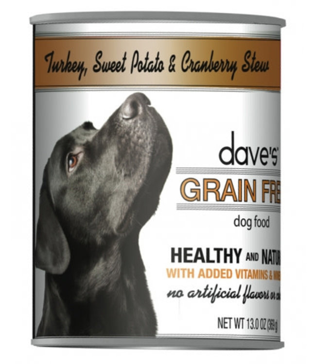 Dave's Pet Food Dave's Grain Free Turkey Sweet Potato and Cranberry 13 OZ