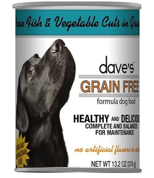 Dave's Pet Food Dave's Healthy & Delicious Grain Free Ocean Fish & Vegetables Cuts in Gravy Dog Food 13.2 Oz