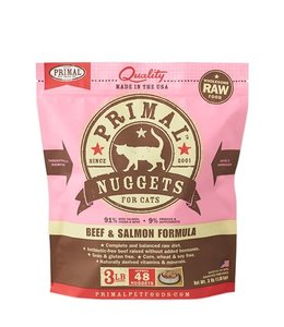 Primal Pet Foods Primal Frozen Raw Cat Food - Beef & Salmon 3lb