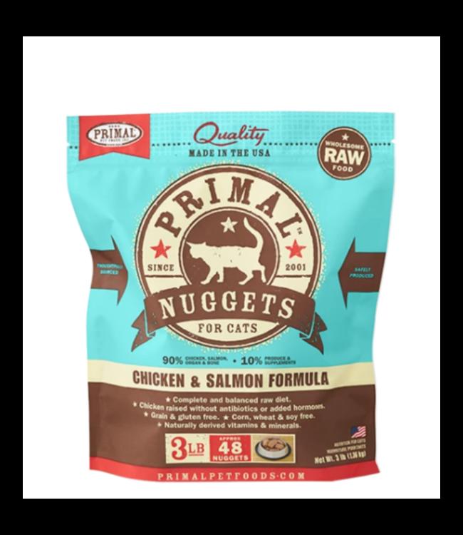 Primal Pet Foods Primal Frozen Raw Cat Food - Chicken & Salmon 3lb