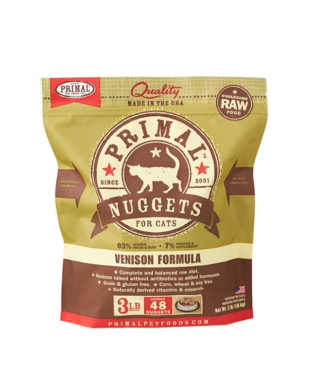 Primal Pet Foods Primal Frozen Raw Cat Food - Venison 3lb