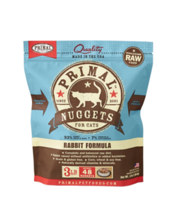 Primal Pet Foods Primal Frozen Raw Cat Food - Rabbit 3lb