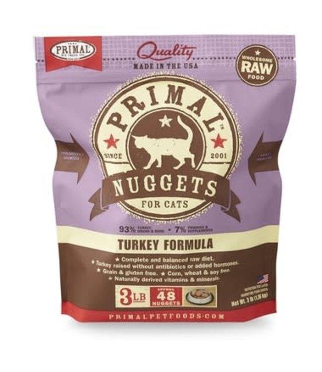 Primal Pet Foods Primal  Frozen Raw Cat Food - Turkey 3lb