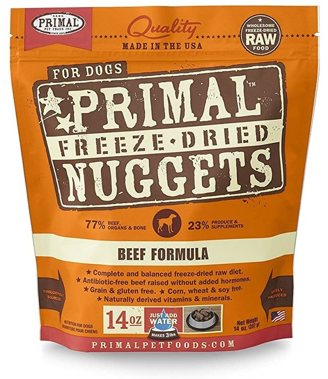 Primal Pet Foods Primal Raw Freeze-Dried Beef Nuggets