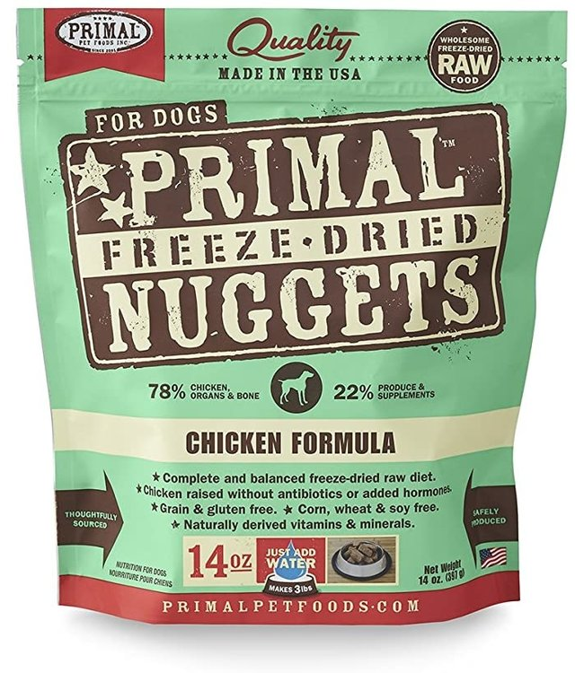 Primal Pet Foods Primal Raw Freeze-Dried Chicken Nuggets