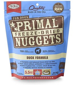 Primal Pet Foods Primal Raw Freeze-Dried Duck Nuggets