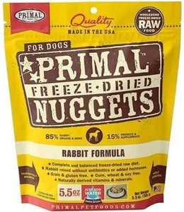 Primal Pet Foods Primal Raw Freeze-Dried Rabbit Nuggets