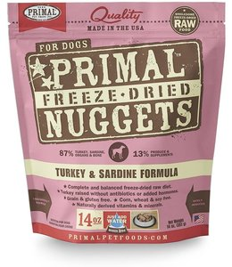 Primal Pet Foods Primal Raw Freeze-Dried Turkey & Sardine Nuggets