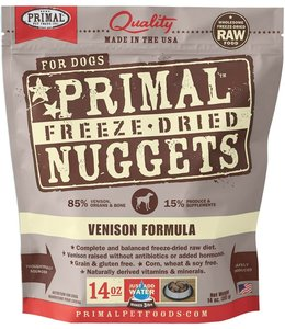 Primal Pet Foods Primal Raw Freeze-Dried Venison Nuggets