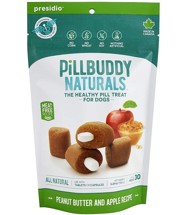 Presidio Natural Pet Co Presidio Dog Treat Pill Buddy Naturals Peanut Butter & Apple 5.3 oz