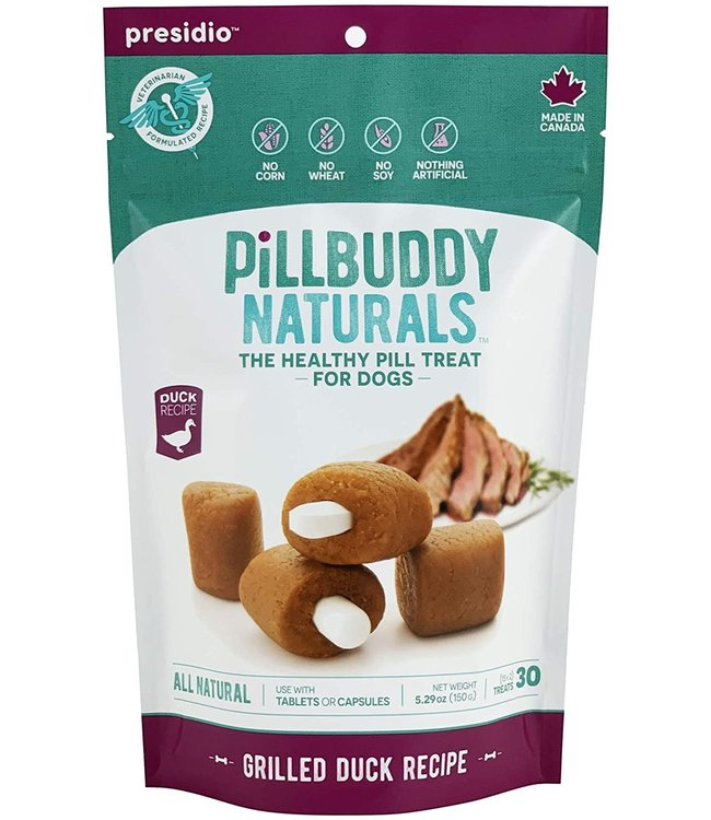 Presidio Natural Pet Co Presidio Dog Treat Pill Buddy Naturals Grilled Duck 5.3 oz