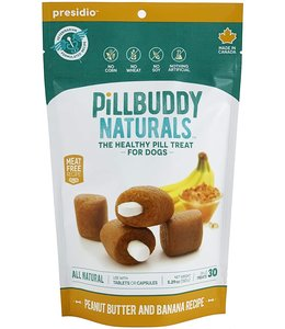 Presidio Natural Pet Co Presidio Dog Treat Pill Buddy Naturals Peanut Butter & Banana 5.3 oz