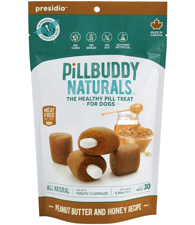 Presidio Natural Pet Co Presidio Dog Treat Pill Buddy Naturals Peanut Butter Honey 5.3 oz