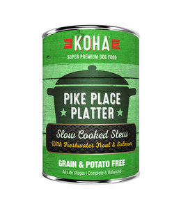 Koha Koha Pike Place Platter Slow Cooked Stew Beef & Salmon 12.7 oz