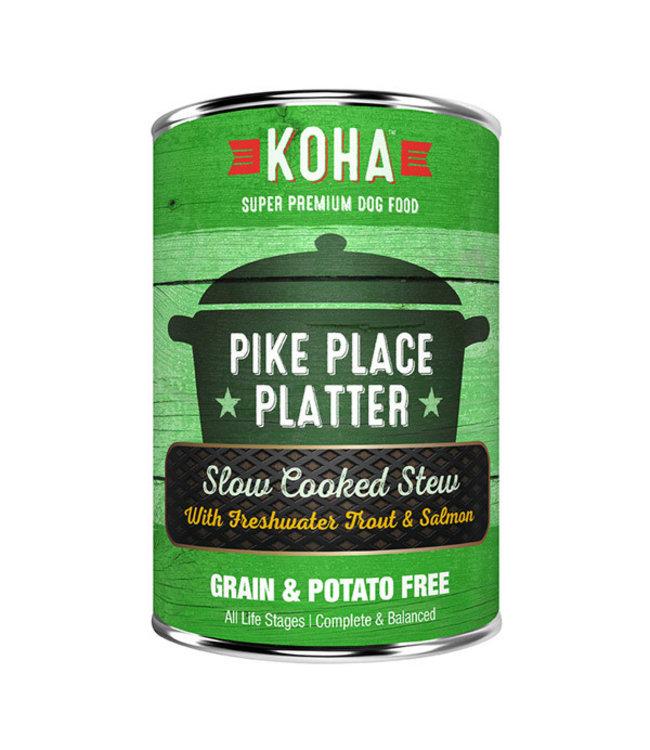 Koha Koha Pike Place Platter Slow Cooked Stew Beef & Salmon 12.7 oz
