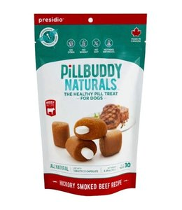 Presidio Natural Pet Co Presidio Dog Treat Pill Buddy Naturals Hickory Smoked Beef 5.3 oz