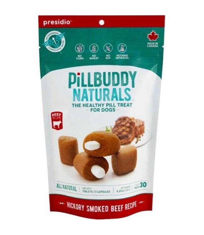 Presidio Natural Pet Co Presidio Dog Treat Pill Buddy Naturals Hickory Smoked Beef 5.3 oz