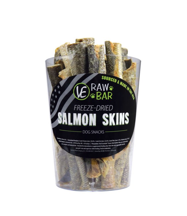 Vital Essentials® Vital Essentials® Raw Bar Freeze-Dried Salmon Skin - Single